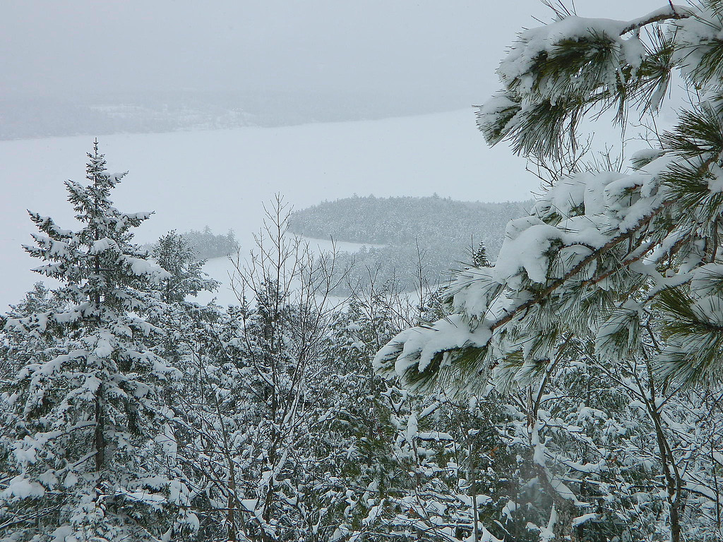Overlooking Newfound Lake and Cliff Island